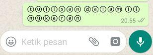 Cara Membuat Tulisan Unik Dalam Lingkaran di WhatsApp  Begini Cara Membuat Tulisan Unik Dalam Lingkaran di WhatsApp