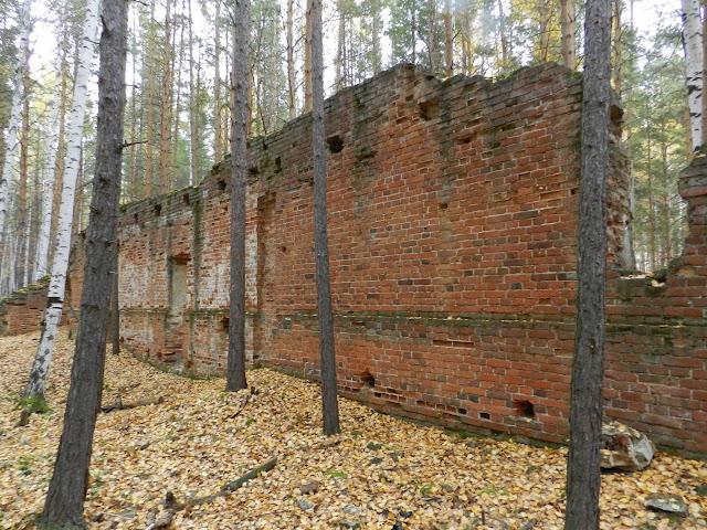 Стена динамитного завода под Кыштымом