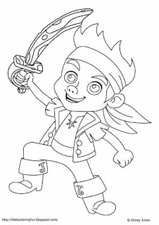 Learn to coloring may 2012 for Jake the pirate coloring pages