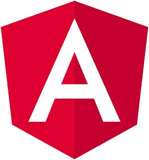 Logo de Angular JS en rojo