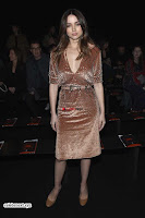 Priyanka Chopra is all brown in a deep neck beautiful dress at Bottega Veneta Show during NYFW ~  Exclusive 009.jpg