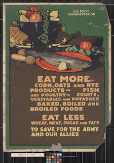 US Food Administration poster from WWI. From U of North Texas collection.