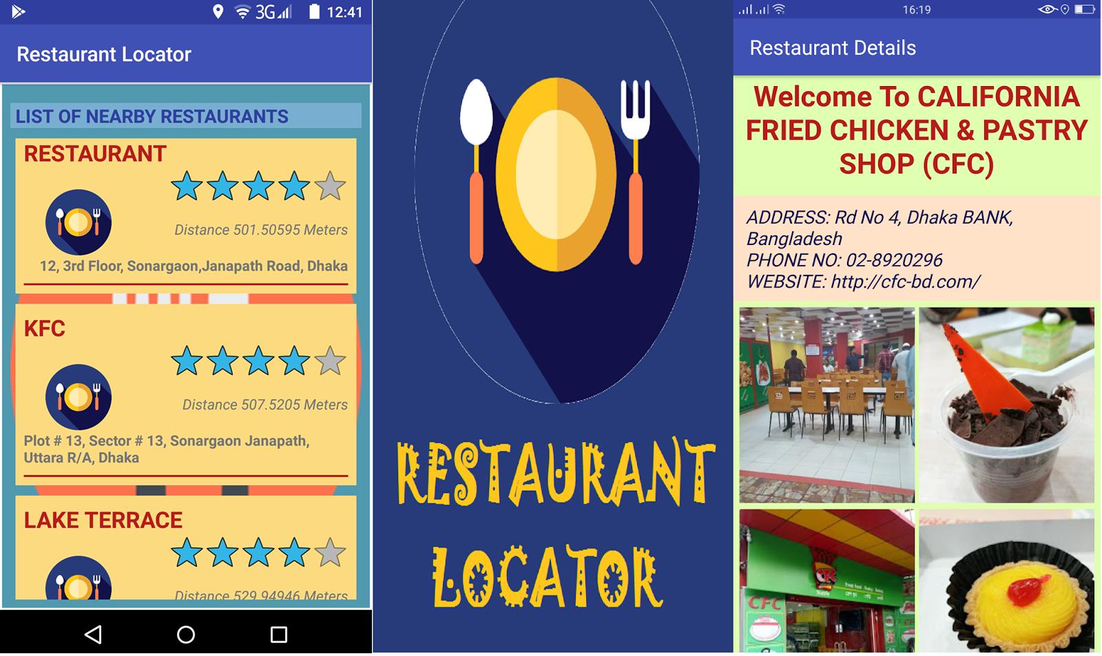 Restaurant Locator Android