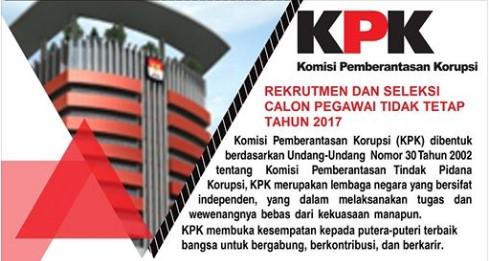 Rekrutmen Calon Pegawai Tidak Tetap KPK Tahun 2017