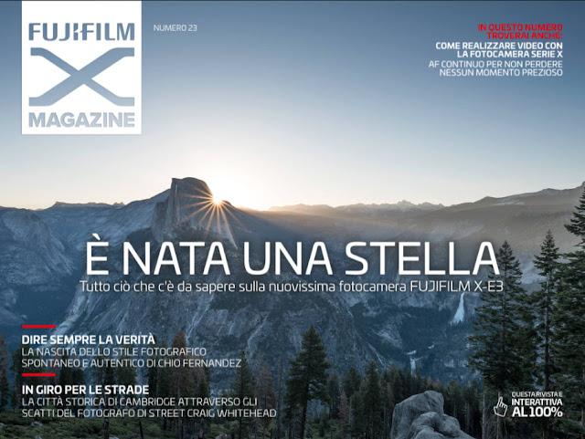 Copertina del Fujifilm X Magazine