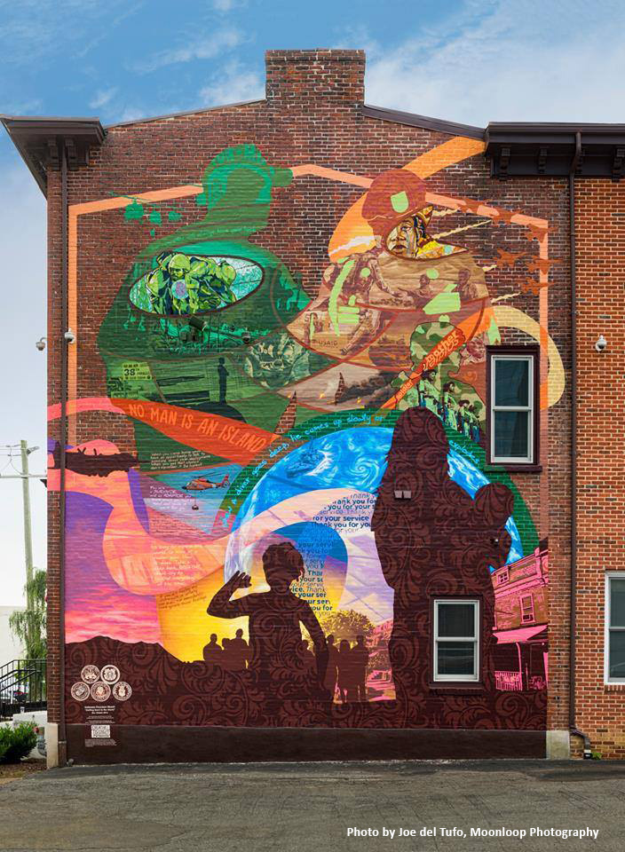 Delaware arts info wilmington s creative district unveils for Creative mural art