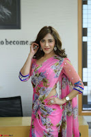 Angela Krislinzki Rogue Movie Fame Telugu Actress in Saree Backless Choli 105.JPG