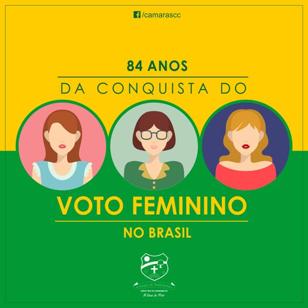 Voto feminino completa 84 anos