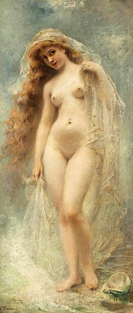 Konstantin Egorovic Makovskij - la nascita di Afrodite - nudo pittorico femminile