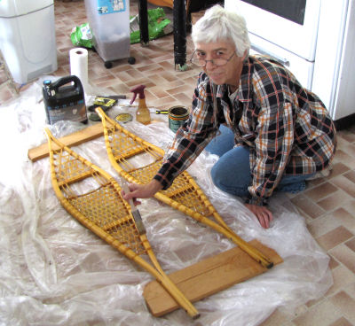 sealing wooden snowshoes