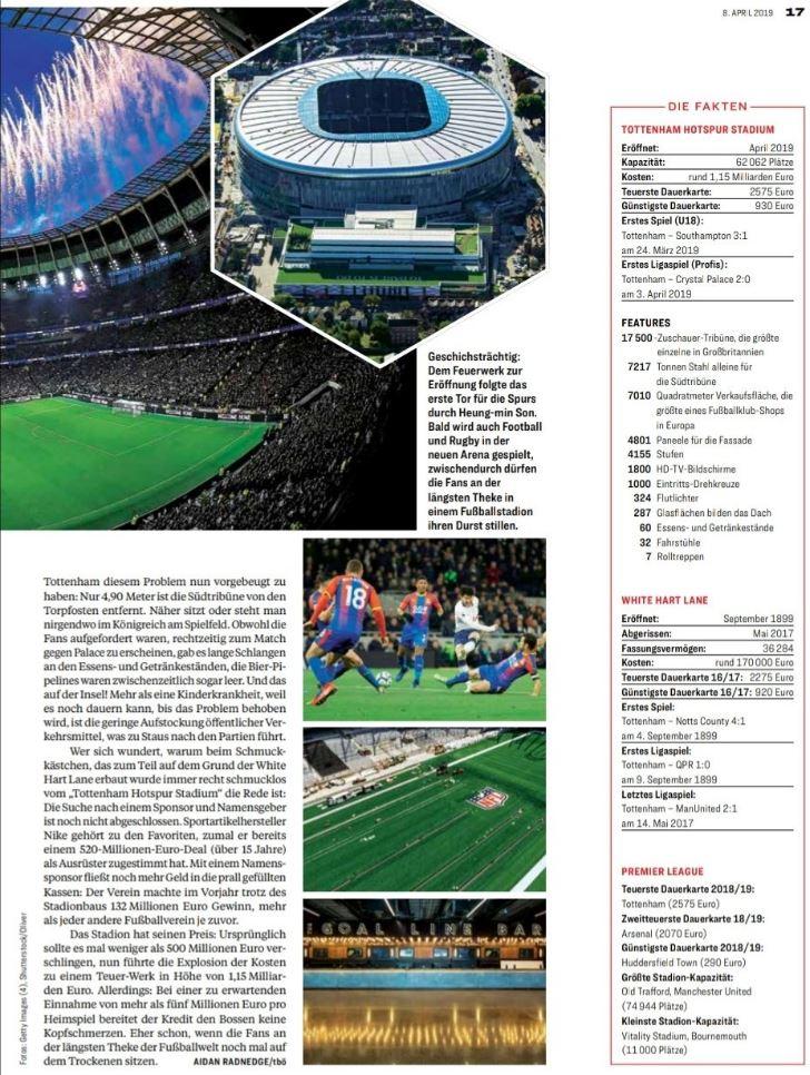 In This Own Write The New Tottenham Hotspur Stadium Das Teuerwerk