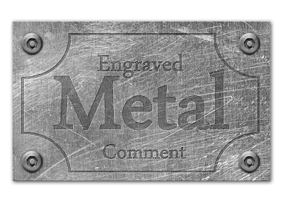 final engraved carved text on metal sheet effect in Photoshop