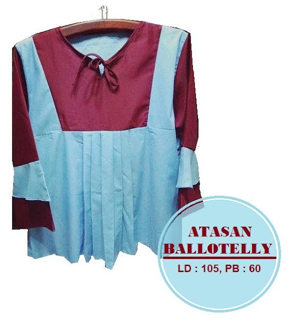 Atasan Ballotelly Kombinasi Biru dan Marun