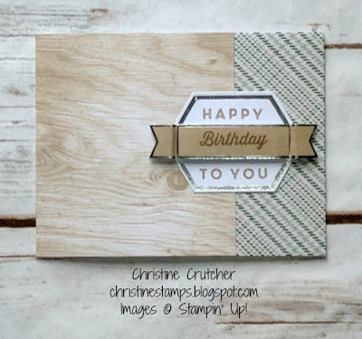 Manly Moments Stampin Up