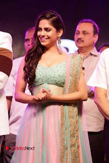 Actress Naina Ganguly Stills in Long Dress at Vangaveeti Audio Launch  0007.JPG
