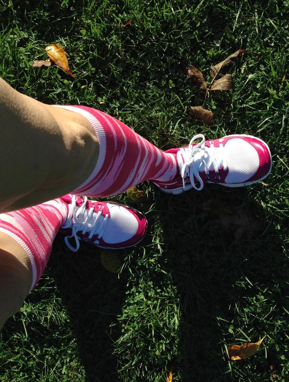 photo of my pink socks