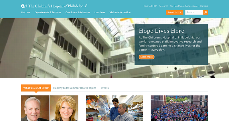 Web design showcase: 6 examples of good pediatrics websites