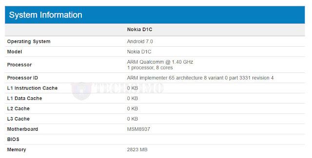 Perangkat misterius Nokia D1C muncul disitus patokan Geekbench