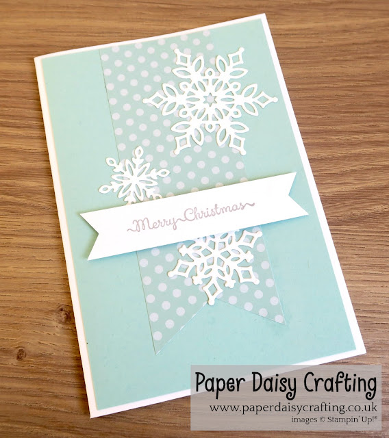 Snowfall Thinlits dies - Stampin Up.