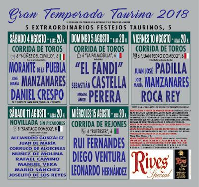 carteles toros en el puerto santa maria 2018 toreros
