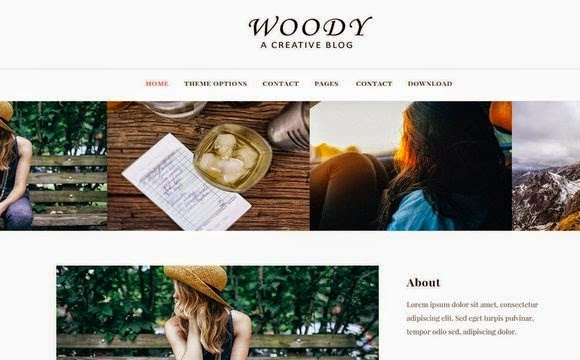 Woody Responsive Blogger Template Free Download