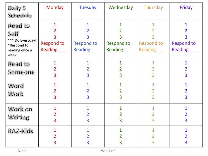 Ms Alley\u0027s 2nd Grade Class Daily 5 OrganizationPlus a Freebie - daily assignment sheet