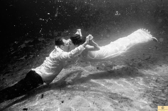 Underwater black and white