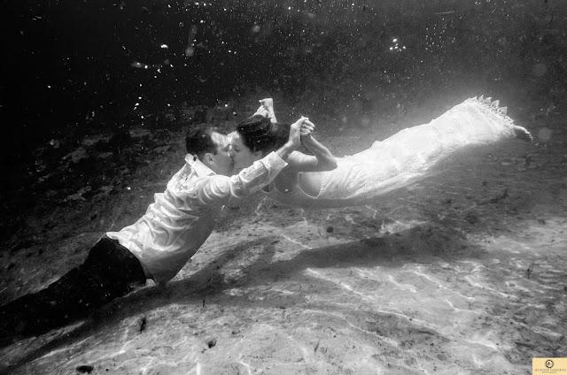 Underwater black and white