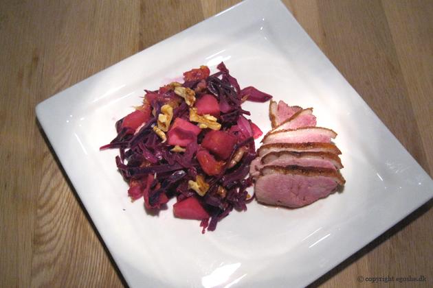 EGOSHE.dk - En madblog med South Beach opskrifter og andet godt...: Andebryst med varm rødkålssalat