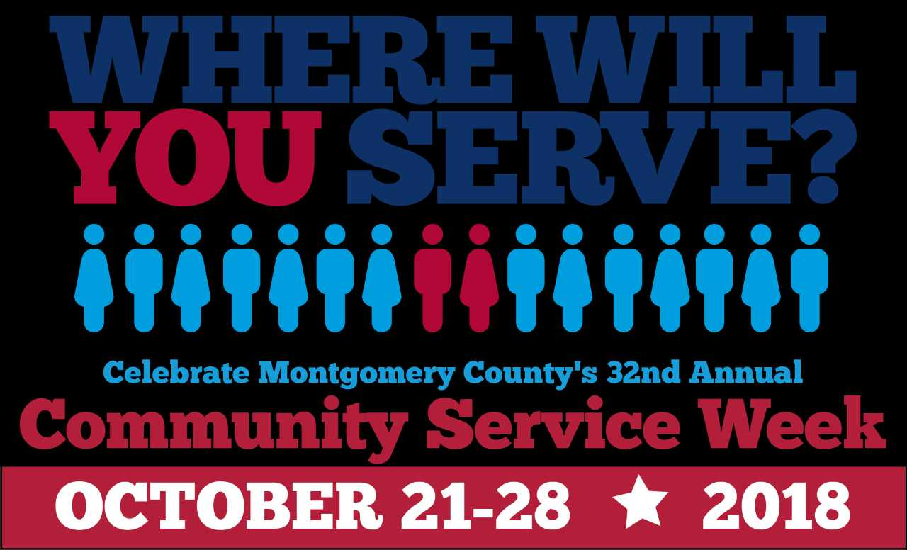 montgomery county s annual community service week is coming the week of oct 22 through 28 you can choose from a wide range of service activities to make a