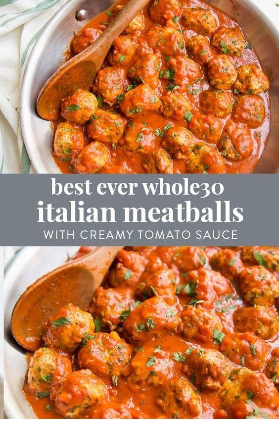 Best Ever Italian Paleo Meatballs With Creamy Tomato Sauce