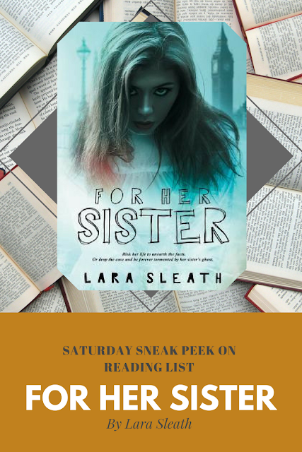 For her Sister by Lara Sleath  a sneak peek on Reading List