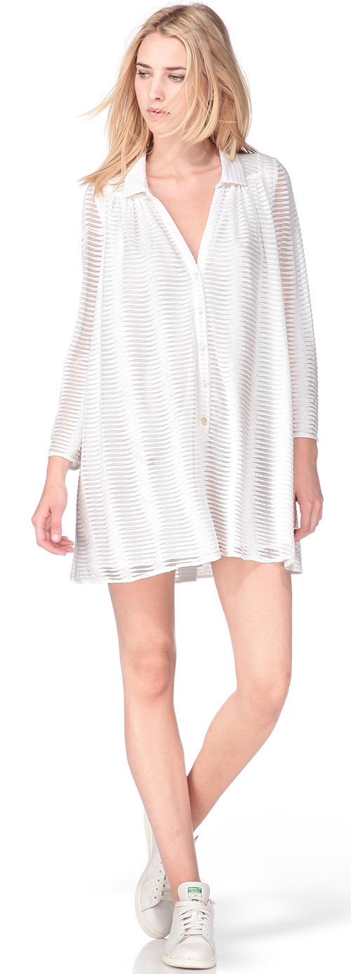 Robe chemise blanche Ba&sh