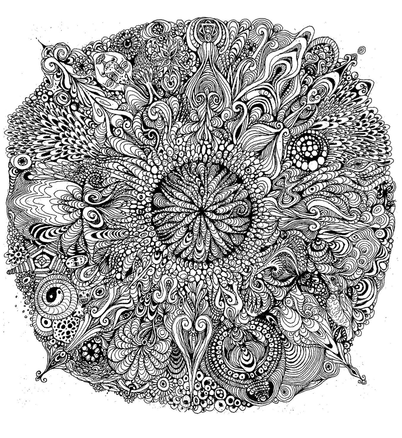 Mandala coloring pages ~ Καλειδοσκόπιο: Mandala!