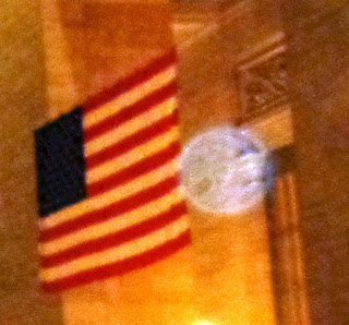 orb on flag edge