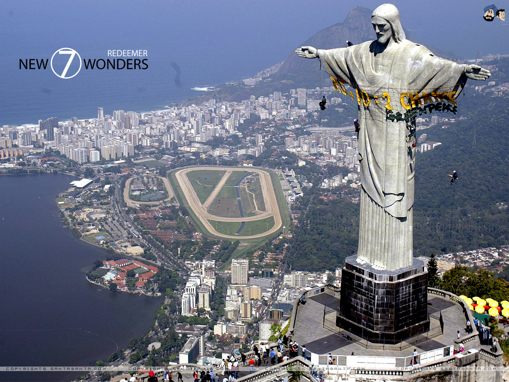 Rio De Janeiro Jesus Statue Hd Wallpaper Open Info New 7 Wonders Of The World