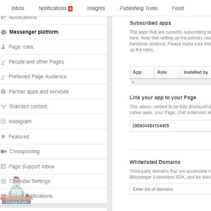 facebook live chat option for websites