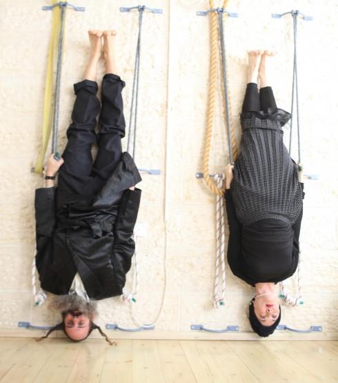 Hasidic yoga posture