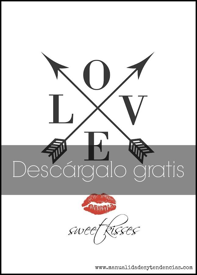 Imprimible con la palabra Love para decorar el salón