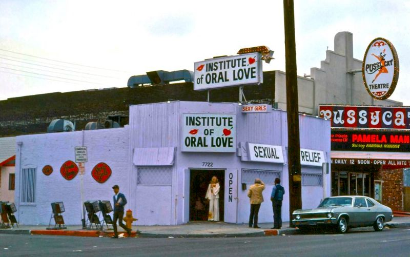Institute Of Oral Love, a Classic L.A Landmark in the Mid-1970s
