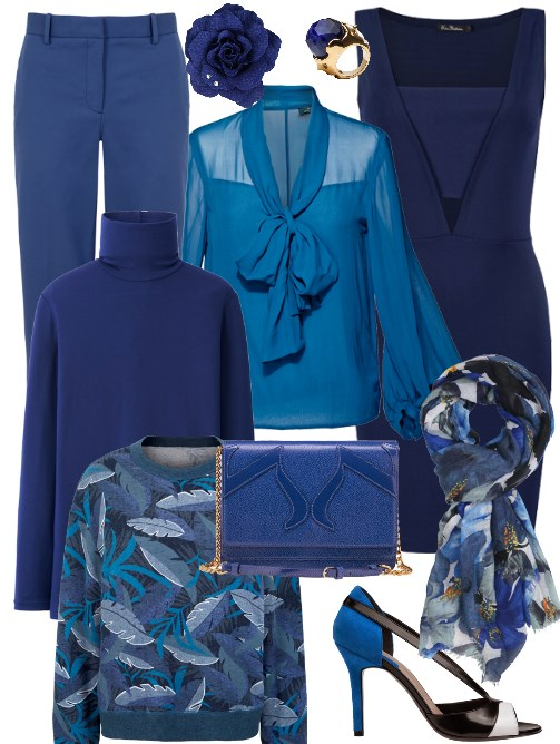 snorkel blue pantone, fashion, business attire, businesswoman, eventsojudith blouse, navy blue