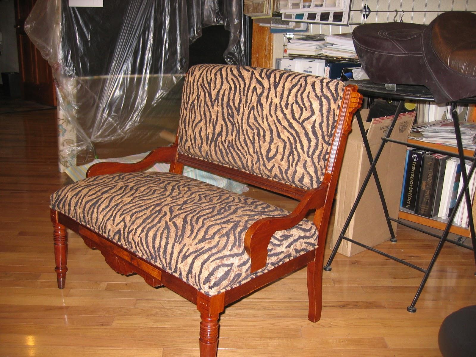 giraffe print chair sashes donati office homestyle custom upholstery and awning animal