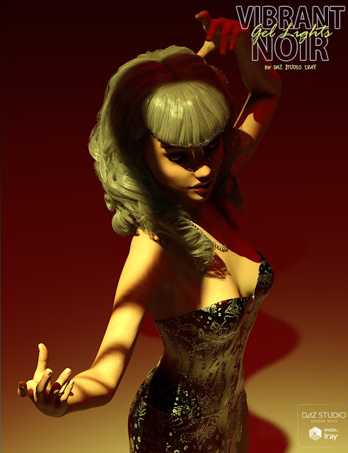 Vibrant Noir Gel Lights and Mini Tutorial for Daz Studio Iray