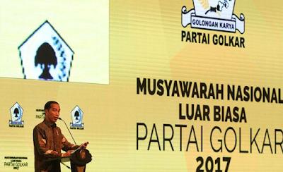 Presiden Jokowi Sebut Indonesia Butuh Golkar Yang Berkarya