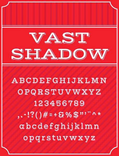 Vast Shadow font