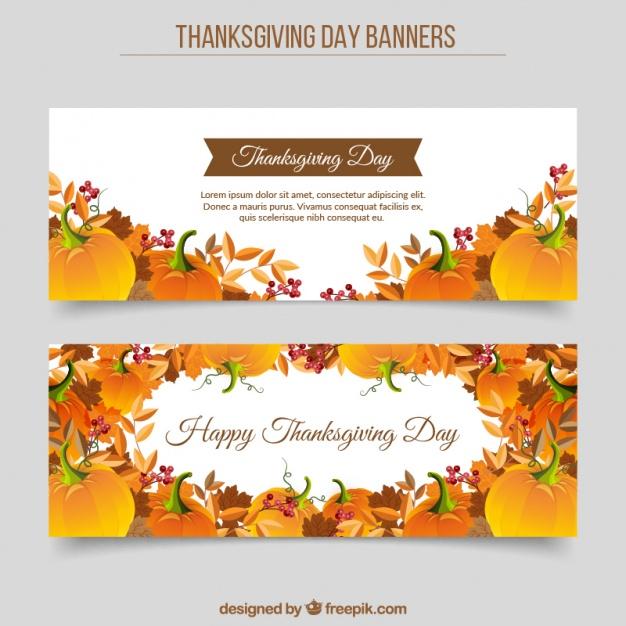 Thanksgiving Banner Free Vector