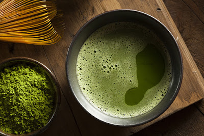Giảm cân cùng với bột trà xanh