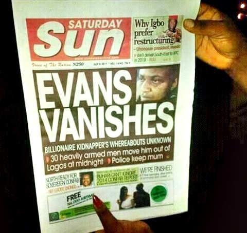 Dead or Escaped? Kidnapper, Evans Disappears as 30 Heavily Armed Men Take Him Away from Lagos at Midnight