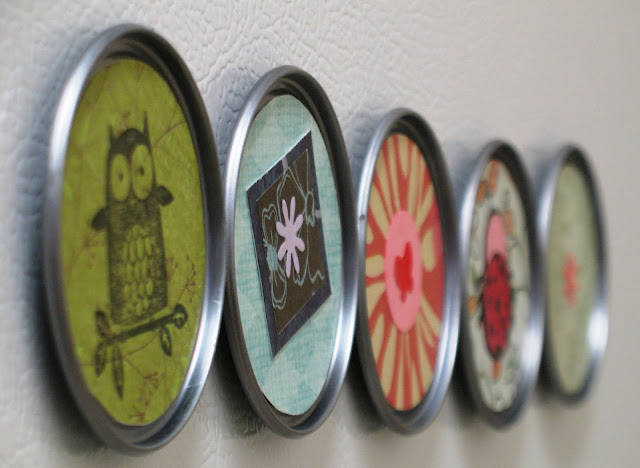 Recycled Lid Magnets Craft