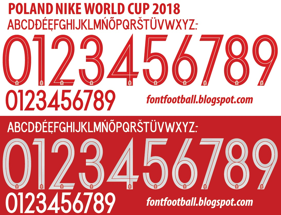 FONT FOOTBALL: FIX/UPDATED Font Vector Nike Poland World Cup